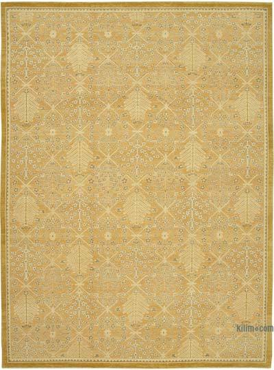 "New Hand Knotted All Wool Oushak Rug - 10' 2"" x 14'  (122 in. x 168 in.)"