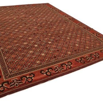 New Hand Knotted Wool Oushak Rug - 9'  x 12'  (108 in. x 144 in.) - K0040670