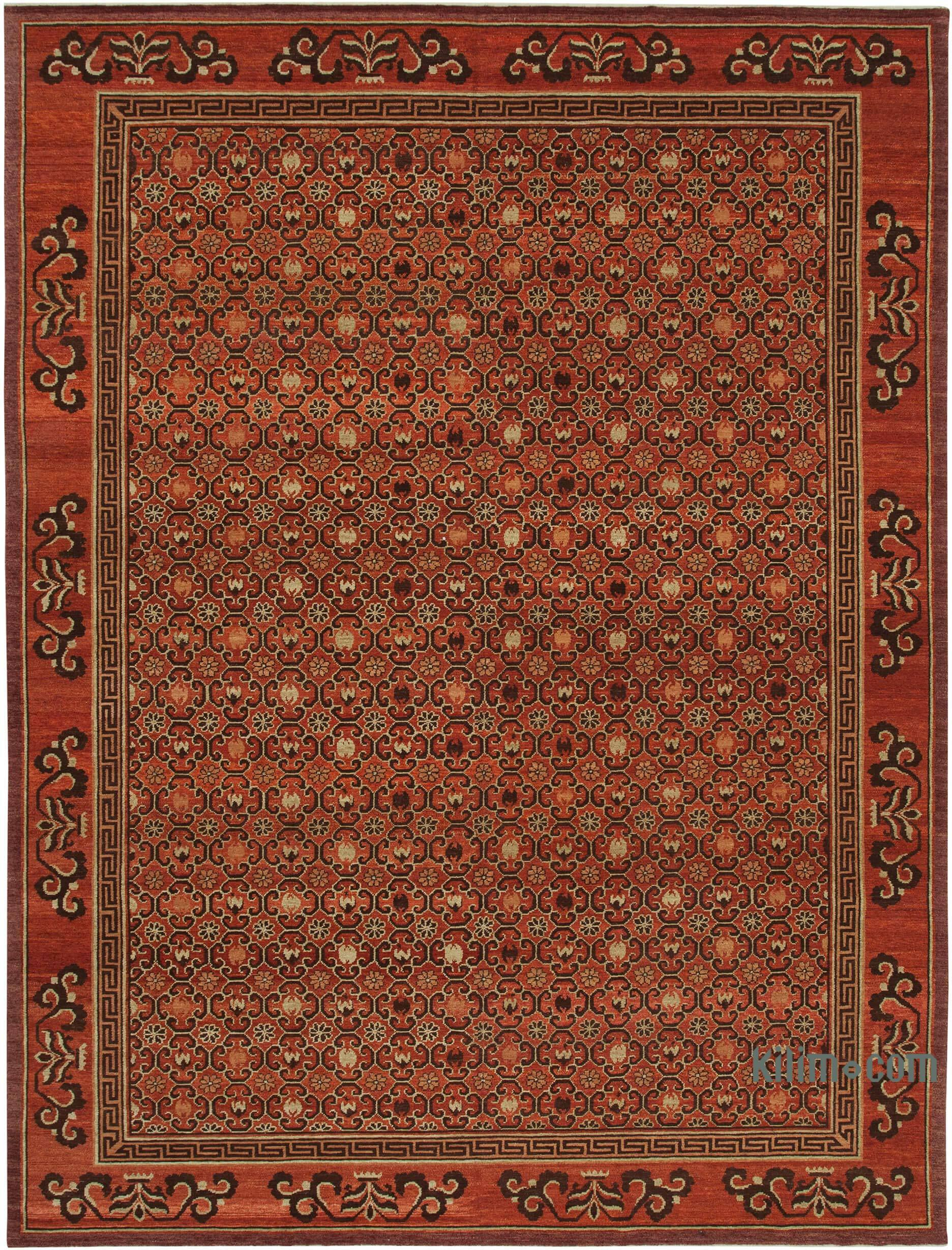 Hand Knotted All Wool Oushak Rug