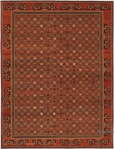 New Hand Knotted Wool Oushak Rug - 9'  x 12'  (108 in. x 144 in.)
