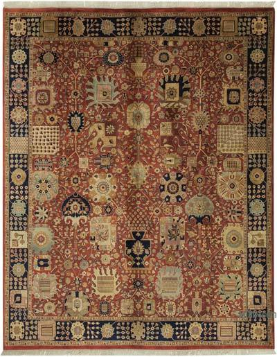 """New Hand Knotted All Wool Oushak Rug - 8'  x 10' 1"""" (96 in. x 121 in.)"""