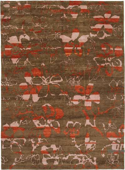 "New Hand Knotted All Wool Oushak Rug - 10' x 13'9"" (120 in. x 165 in.)"