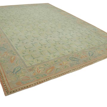 New Hand Knotted All Wool Oushak Rug - 10' 3# x 13' 6# (123 in. x 162 in.) - K0040680