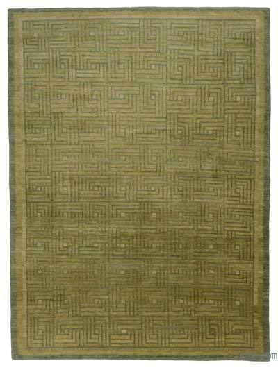 """New Hand Knotted Wool Oushak Rug - 9' 11"""" x 13' 5"""" (119 in. x 161 in.)"""