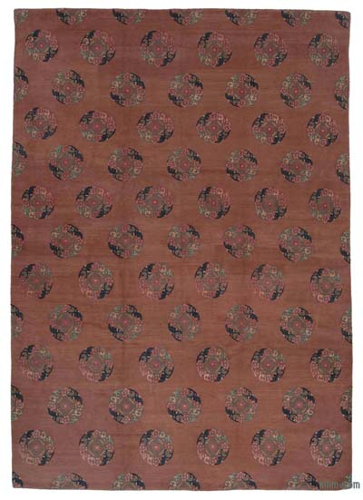 """New Hand Knotted All Wool Oushak Rug - 9'6"""" x 13'8"""" (114 in. x 164 in.)"""