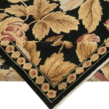 """New Hand Knotted Wool Oushak Rug - 8' 8"""" x 11' 5"""" (104 in. x 137 in.) - K0040702"""