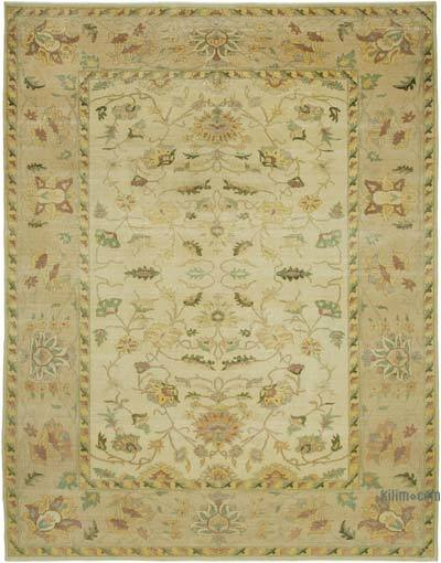 "New Hand Knotted All Wool Oushak Rug - 9' 9"" x 12' 7"" (117 in. x 151 in.)"