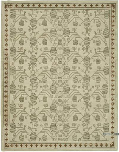 "New Hand Knotted All Wool Oushak Rug - 9' 3"" x 11' 11"" (111 in. x 143 in.)"