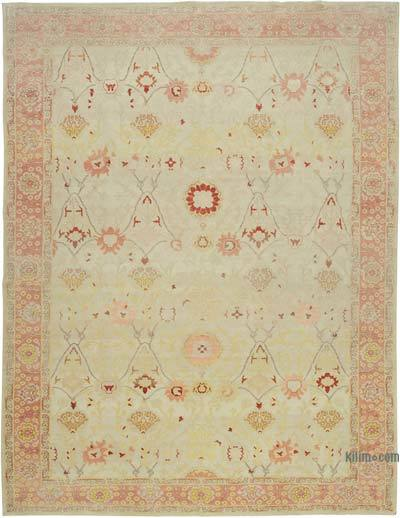 "New Hand Knotted All Wool Oushak Rug - 10' 9"" x 13' 6"" (129 in. x 162 in.)"