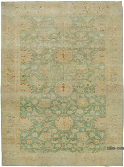 "New Hand Knotted All Wool Oushak Rug - 10' 1"" x 13' 11"" (121 in. x 167 in.)"