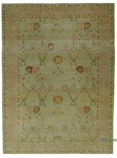 "New Hand Knotted All Wool Oushak Rug - 10' 3"" x 13' 9"" (123 in. x 165 in.)"