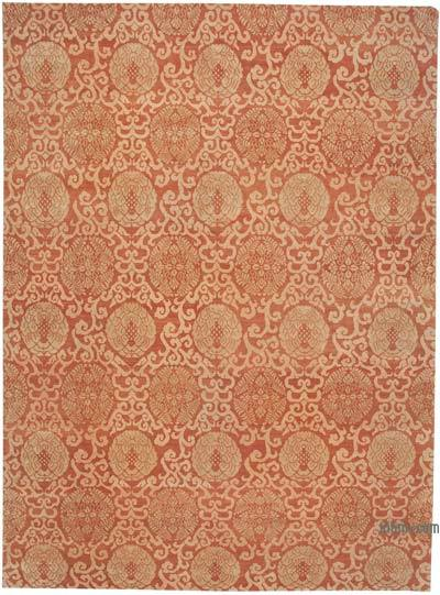"New Hand Knotted All Wool Oushak Rug - 10' 4"" x 14'  (124 in. x 168 in.)"