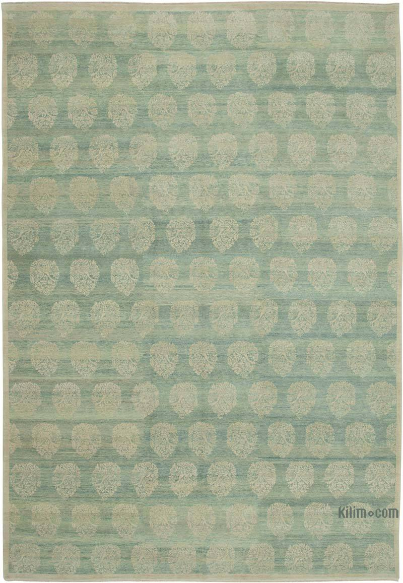 """New Hand Knotted Wool Oushak Rug - 9' 11"""" x 14' 3"""" (119 in. x 171 in.) - K0040721"""