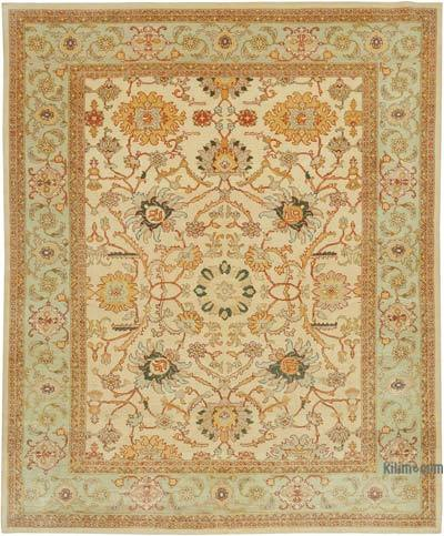 "New Hand Knotted All Wool Oushak Rug - 8' 2"" x 9' 10"" (98 in. x 118 in.)"