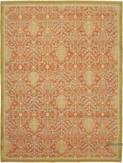 """New Hand Knotted All Wool Oushak Rug - 9'2"""" x 12'3"""" (110 in. x 147 in.)"""