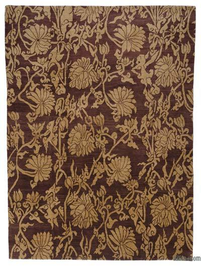 "New Hand Knotted All Wool Oushak Rug - 9' 8"" x 13' 5"" (116 in. x 161 in.)"