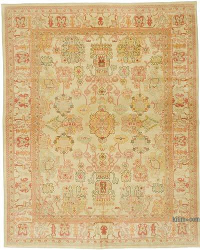 """New Hand Knotted All Wool Oushak Rug - 7' 9"""" x 9' 8"""" (93 in. x 116 in.)"""