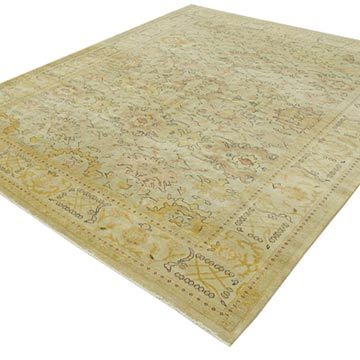 """New Hand Knotted Wool Oushak Rug - 8' 2"""" x 9' 7"""" (98 in. x 115 in.) - K0040742"""