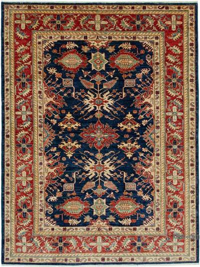 "New Hand Knotted All Wool Oushak Rug - 6'1"" x 8'2"" (73 in. x 98 in.)"