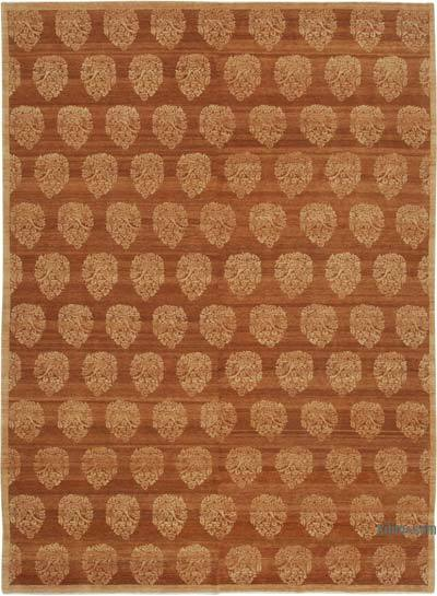 """New Hand Knotted All Wool Oushak Rug - 8' 11"""" x 12' 2"""" (107 in. x 146 in.)"""