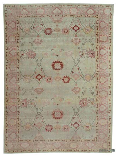 "New Hand Knotted All Wool Oushak Rug - 11' 8"" x 8' 6"" (140 in. x 102 in.)"