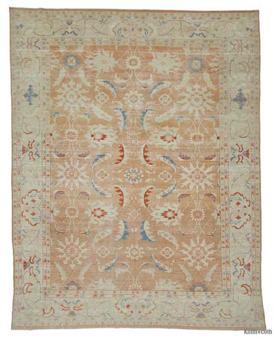 "New Hand Knotted All Wool Oushak Rug - 9'8"" x 12'7"" (116 in. x 151 in.)"