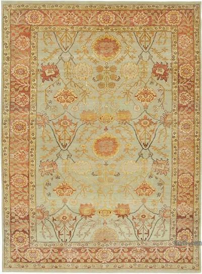 "New Hand Knotted All Wool Oushak Rug - 7' 5"" x 10' 2"" (89 in. x 122 in.)"
