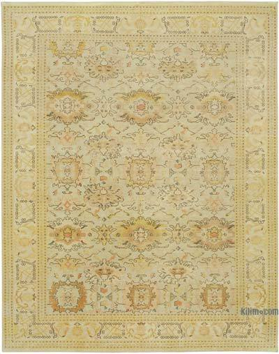 "New Hand Knotted All Wool Oushak Rug - 8' 11"" x 11' 5"" (107 in. x 137 in.)"