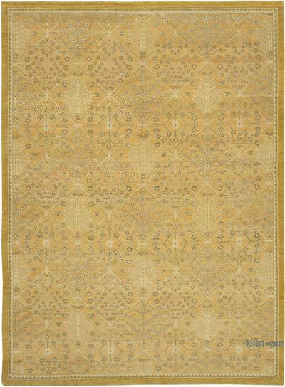 "New Hand Knotted All Wool Oushak Rug - 9' 1"" x 12' 8"" (109 in. x 152 in.)"