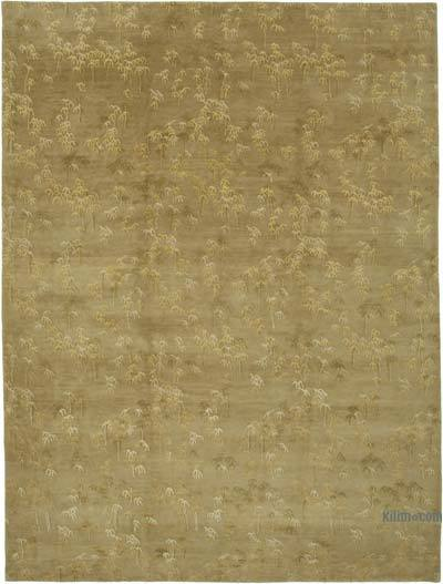 """New Hand Knotted Wool Oushak Rug - 9' 9"""" x 13' 4"""" (117 in. x 160 in.)"""