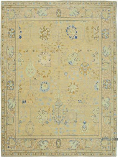 """New Hand Knotted All Wool Oushak Rug - 8' 11"""" x 12'  (107 in. x 144 in.)"""