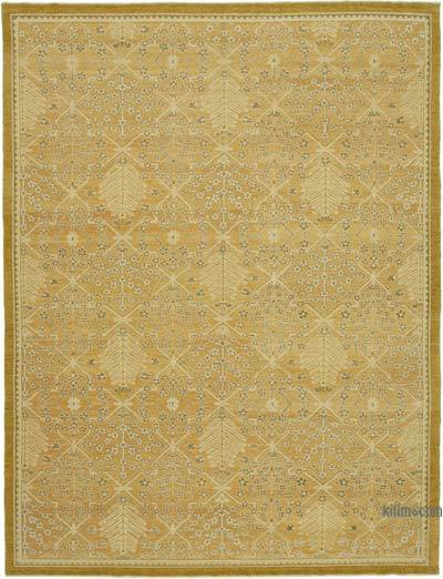 """New Hand Knotted Wool Oushak Rug - 9' 2"""" x 12' 1"""" (110 in. x 145 in.)"""