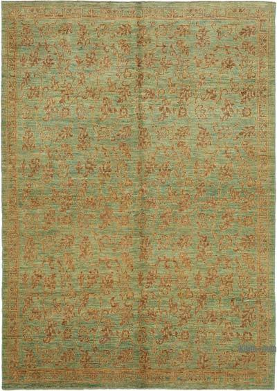 "New Hand Knotted All Wool Oushak Rug - 6' x 8'7"" (72 in. x 103 in.)"