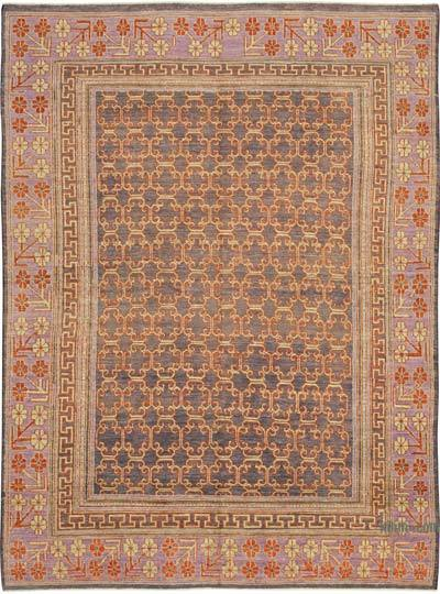 """New Hand Knotted All Wool Oushak Rug - 7' 7"""" x 10' 2"""" (91 in. x 122 in.)"""