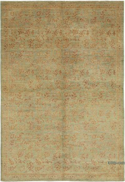 "New Hand Knotted All Wool Oushak Rug - 6' 2"" x 9'  (74 in. x 108 in.)"