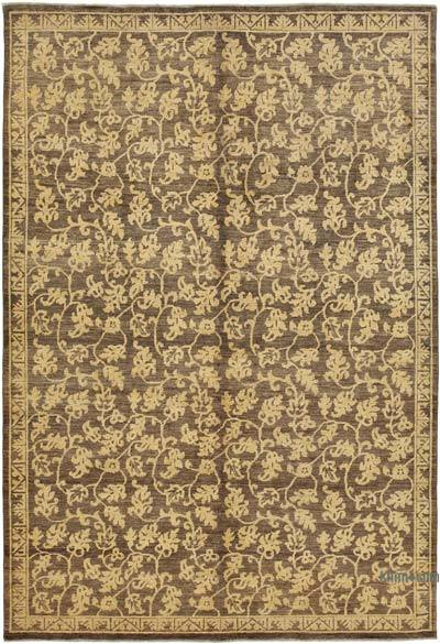 "New Hand Knotted All Wool Oushak Rug - 6' x 8'9"" (72 in. x 105 in.)"