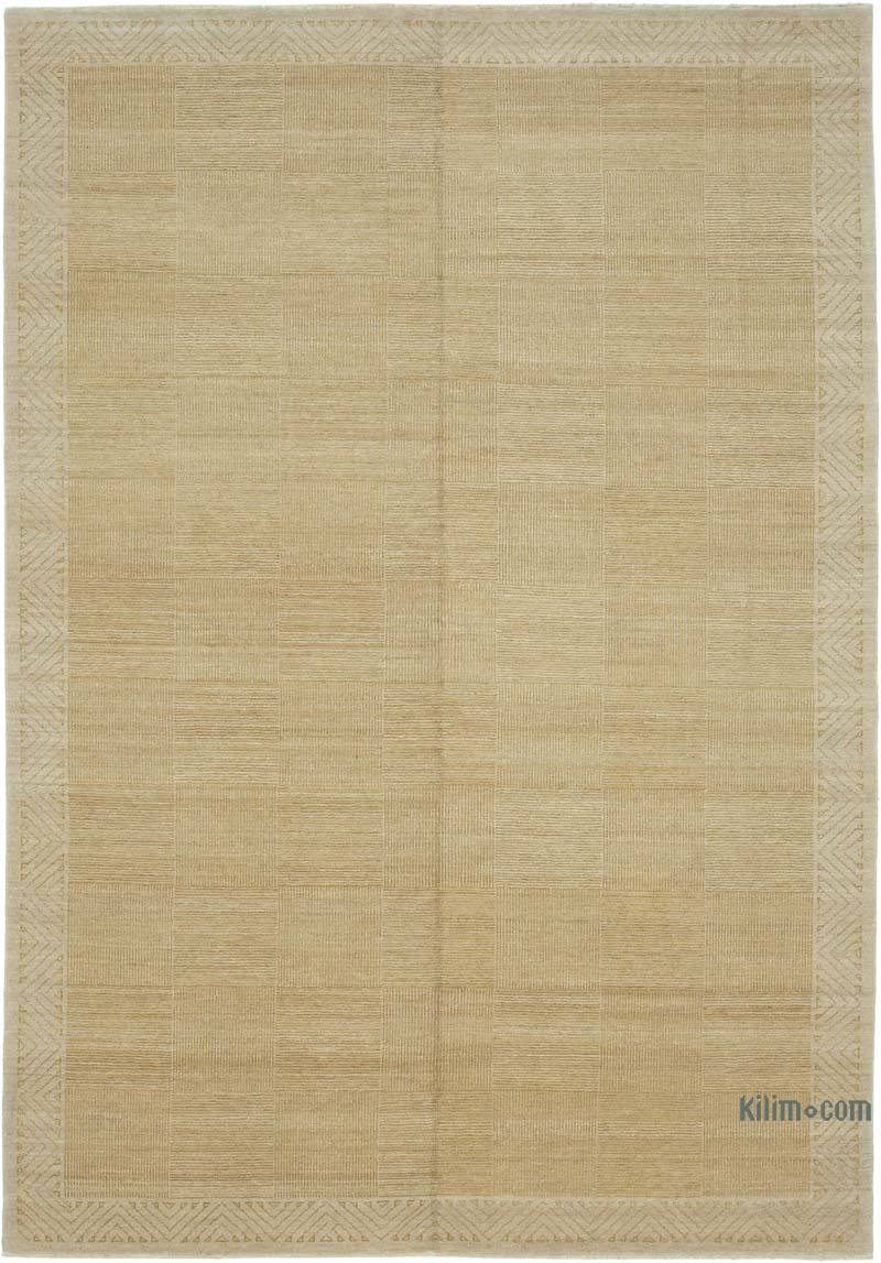 """New Hand Knotted Wool Oushak Rug - 7' 1"""" x 10' 1"""" (85 in. x 121 in.) - K0040786"""