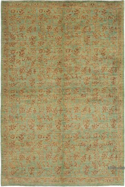 "New Hand Knotted All Wool Oushak Rug - 6'2"" x 9'1"" (74 in. x 109 in.)"