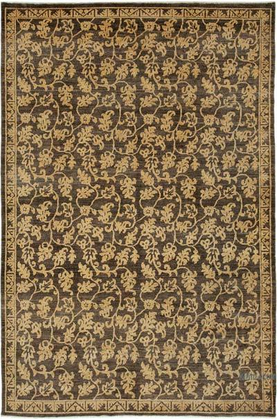 "New Hand Knotted All Wool Oushak Rug - 5'11"" x 9'1"" (71 in. x 109 in.)"