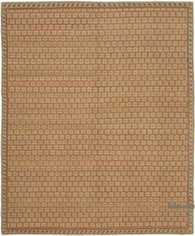 """New Hand Knotted Wool Oushak Rug - 8' 2"""" x 10' 1"""" (98 in. x 121 in.)"""