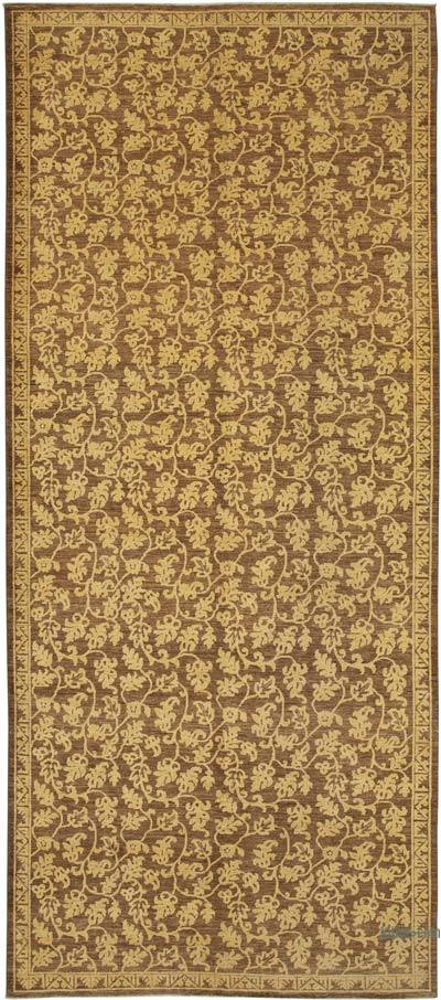 "New Hand Knotted All Wool Oushak Rug - 6' 5"" x 14' 10"" (77 in. x 178 in.)"