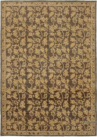 """New Hand Knotted All Wool Oushak Rug - 6'1"""" x 8'8"""" (73 in. x 104 in.)"""