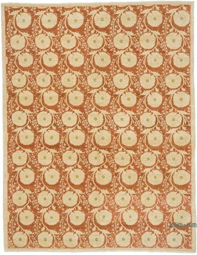 "New Hand Knotted All Wool Oushak Rug - 6'  x 7' 10"" (72 in. x 94 in.)"