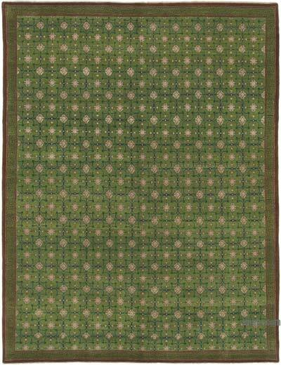"""New Hand Knotted Wool Oushak Rug - 7' 8"""" x 10' 4"""" (92 in. x 124 in.)"""