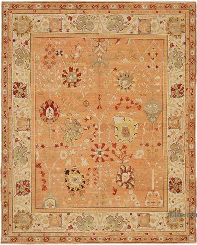 "New Hand Knotted All Wool Oushak Rug - 7'11"" x 9'9"" (95 in. x 117 in.)"