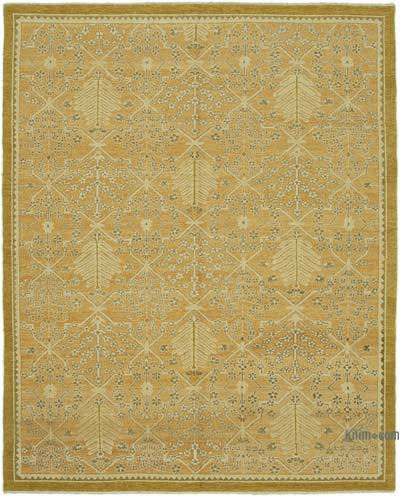 """New Hand Knotted Wool Oushak Rug - 8' 2"""" x 10'  (98 in. x 120 in.)"""