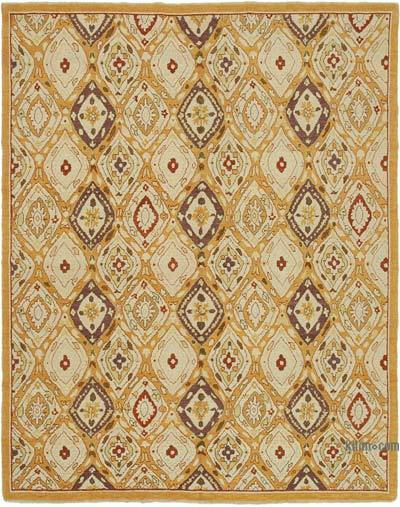 "New Hand Knotted All Wool Oushak Rug - 7' 10"" x 9' 11"" (94 in. x 119 in.)"