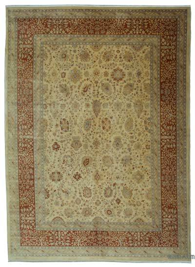 """New Hand Knotted All Wool Oushak Rug - 9'1"""" x 12'10"""" (109 in. x 154 in.)"""