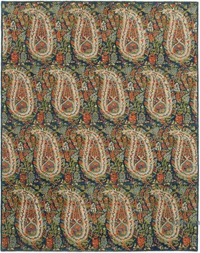 "New Hand Knotted All Wool Oushak Rug - 7' 11"" x 10'  (95 in. x 120 in.)"
