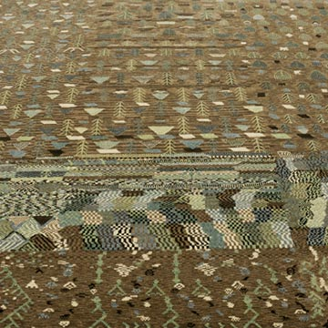 """New Hand Knotted Wool Oushak Rug - 6' 6"""" x 7' 11"""" (78 in. x 95 in.) - K0040830"""